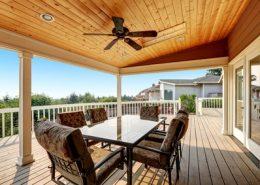 copertura legno terrazzo